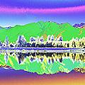 Psychedelic Mirror Lake New Zealand 3 by Peter Lloyd