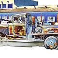 Psychedelic Old Pickup Truck by Peter Lloyd