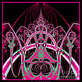 Psychedelic Rollercoaster Tunnel Fractal 65 by Rose Santuci-Sofranko