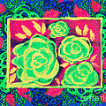Psychedelic Roses - Spring by Beverly Claire Kaiya