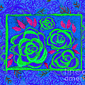 Psychedelic Roses - Summer by Beverly Claire Kaiya