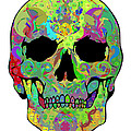 Psychedelic Skull by Mauro Celotti