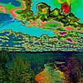 Psychedelic Skyline Over Spokane River #1 by Ben Upham III