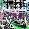 Psychedelic Venetian Scene by Peter Lloyd