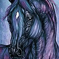Psychodelic Deep Blue by Angel Ciesniarska