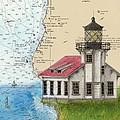 Pt Cabrillo Lighthouse Ca Nautical Chart Map Art Cathy Peek by Cathy Peek