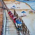 Pt Pleasant Nj Sand Train by Elaine Duras