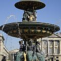 Public Fountain At The Place De La Concorde In Paris France by Richard Rosenshein