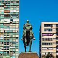 Public Statue Of General Artigas In Montevideo by Jess Kraft