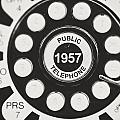Public Telephone 1957 In Black And White Retro by Lisa Russo
