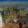 Pueblo Tesuque Number One by George Bellows