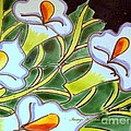 Calla Lillies Splashed by Pamela Smale Williams