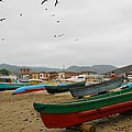 Puerto Lopez Beach And Boats by Cascade Colors