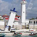 Puerto Morelos Lighthouse by Ellen Henneke
