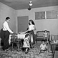 Puerto Rico Family Dinner by Underwood Archives
