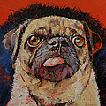 Pug Portrait by Michael Creese