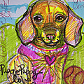 Puggle Puppy Love by Laurie Maves ART