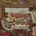 Pullman Compartment Cars Ad Circa 1894 by George Pedro