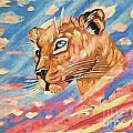 Puma On Watch by Phyllis Kaltenbach