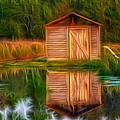 Pump House Reflection by Beth Sawickie