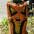 Pumpkin Carved Stump by Dennis Coates