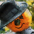 Pumpkin Face Photo Art 06 by Thomas Woolworth