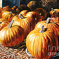Pumpkins In The Barn by Christina Swanson