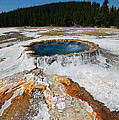 Punch Bowl Spring In Yellowstone by Debra Thompson