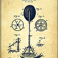 Punching Apparatus Patent Drawing From 1895 -vintage by Aged Pixel