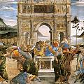 Punishment Of Korah And Dathan And Abiram by Sandro Botticelli