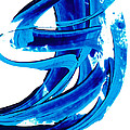 Pure Water 304 - Blue Abstract Art By Sharon Cummings by Sharon Cummings