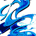 Pure Water 314 - Blue Abstract Art By Sharon Cummings by Sharon Cummings