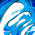 Pure Water 315 - Blue Abstract Art By Sharon Cummings by Sharon Cummings
