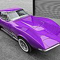 Purple 1968 Corvette C3 From Above by Gill Billington