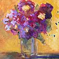 Purple Abstract by Nancy Merkle
