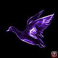 Purple American Wigeon - 7675 F - Bb by James Ahn