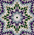 Purple And Green Patchwork Art by Barbara Griffin