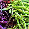 Purple And Green String Beans by Tina M Wenger