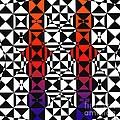 Purple And Orange Diamonds by Joseph J Stevens