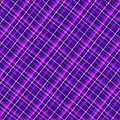 Purple And Pink Diagonal Plaid Fabric Background by Keith Webber Jr