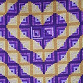 Purple And Yellow Endless Love Log Cabin Quilt by Paula Talbert