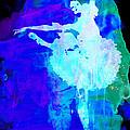 Purple Ballerina Watercolor by Naxart Studio