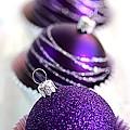 Purple Baubles by Joy Watson