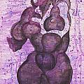 Purple Black Woman by Mario Garcia