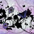 Purple Butterflies by Nancy Long