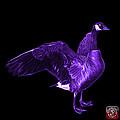 Purple Canada Goose Pop Art - 7585 - Bb  by James Ahn
