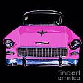 Purple Chevy Pop Art by Edward Fielding