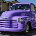 Purple Chevy Truck by Robert L Jackson