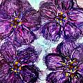 Purple Daisies Alcohol Inks by Danielle  Parent
