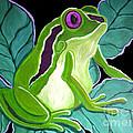 Purple Eyed Frog by Nick Gustafson